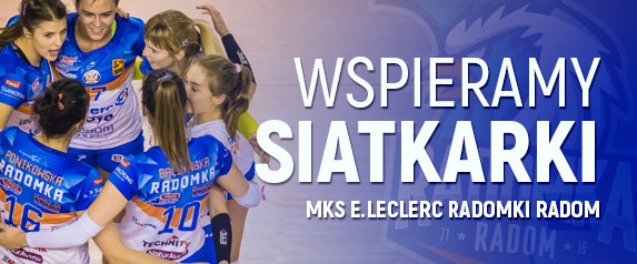 We support MKS E.Leclerc Ramka Radom volleyball players